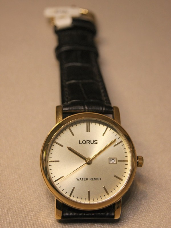 Lorus Quartz Doublé Zwart Leder Doublé RG838CX9