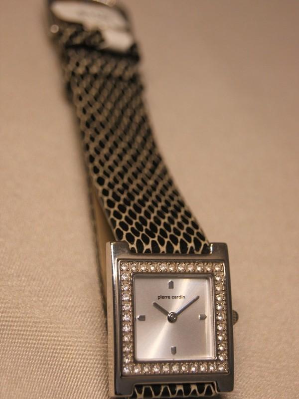 Pierre Cardin Quartz Staal Zwart Leder Zilver 48752