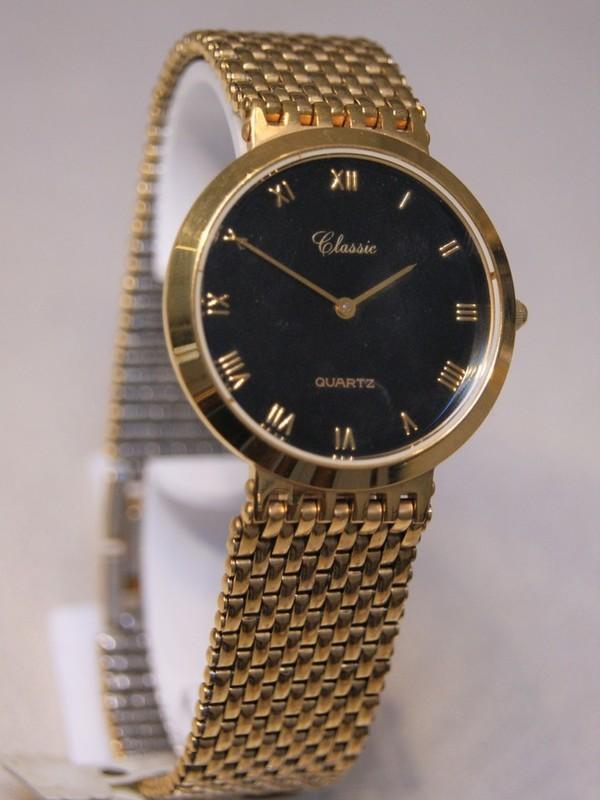 Classic Quartz Plaqué Bracelet Zwart