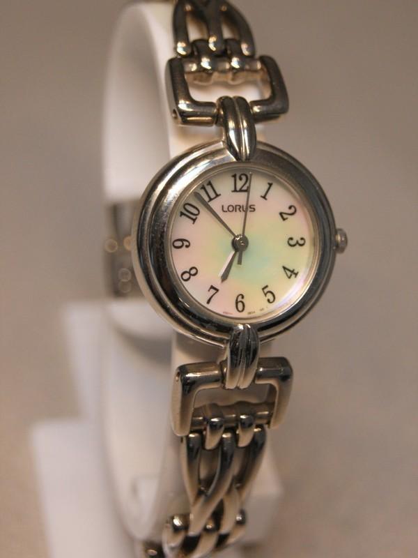 Lorus Quartz Staal Bracelet Parelmoer