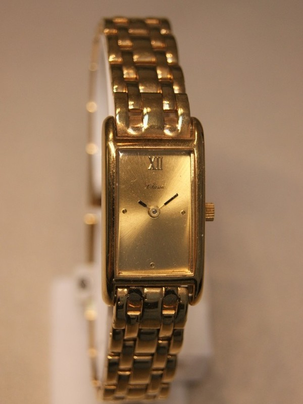 Classic Quartz Plaqué Bracelet Goud