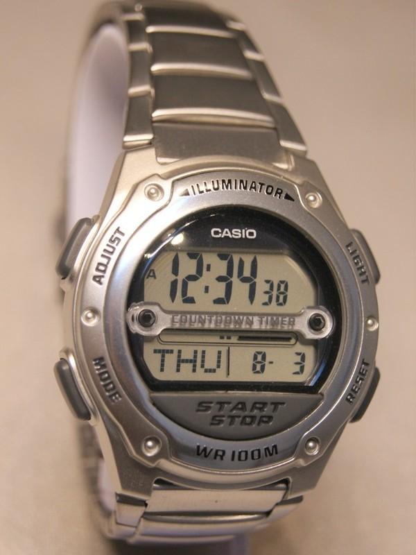 Casio Quartz Staal Bracelet Zwart W-756
