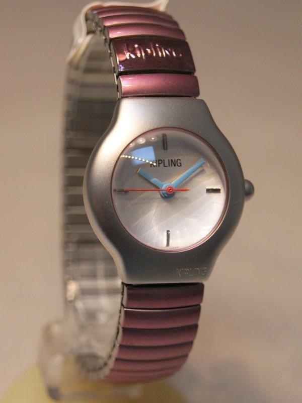 Kipling Basic Quartz Staal SS Roze Bracelet Wit 93001.87