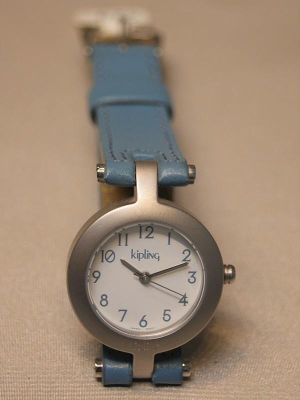 Kipling Basic Quartz Staal SS Blauw Leder Wit 93002.61