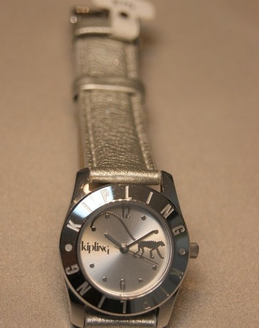 Kipling Basic Quartz Staal SS Leder Zilver 94002.7