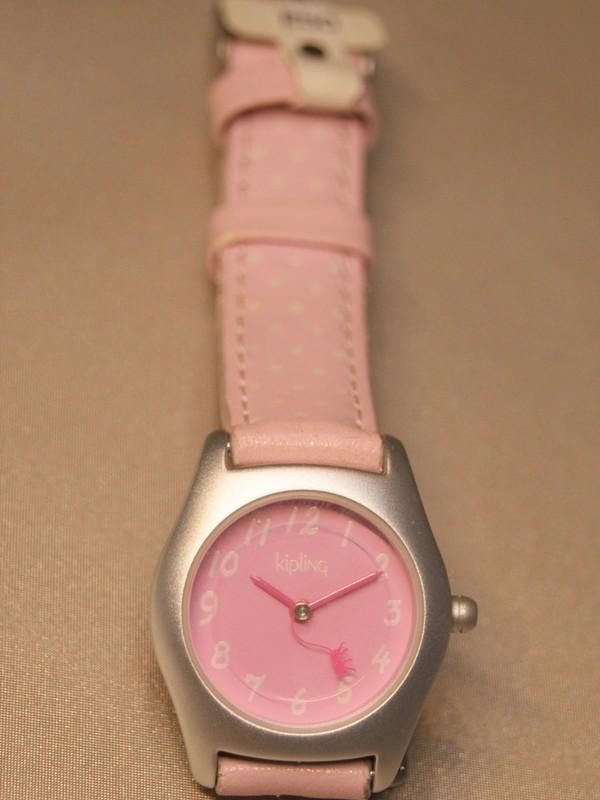 Kipling Basic Quartz Grijs Roze Leder Roze 94002.43