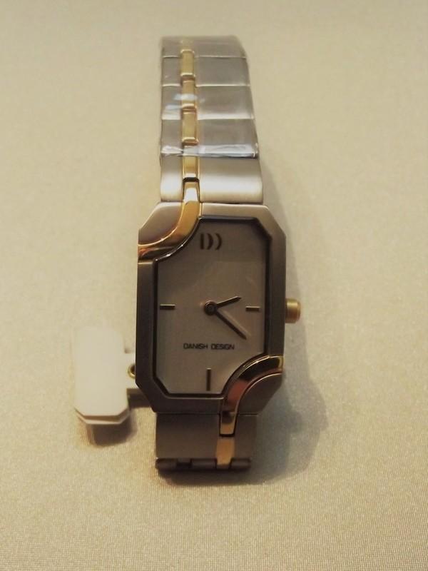 Danish Design Quartz Titanium Bicolour Bracelet Wit IV65Q840