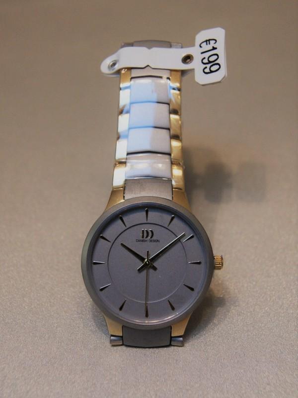 Danish Design Quartz Titanium Sapphire Bicolour Bracelet Zilver IV73Q1275