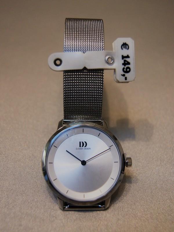 Danish Design Quartz Staal SS Mesh Bracelet Wit IV62Q1258