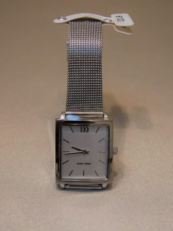 Danish Design Quartz Staal SS Mesh Bracelet Wit IV62Q1255