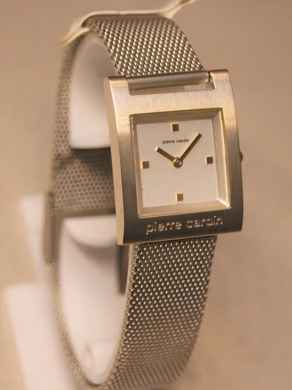 Pierre Cardin Quartz Staal Mesh Bracelet Wit 44602
