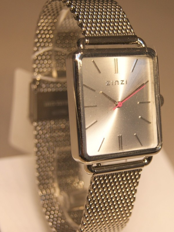 Zinzi Quartz Staal SS Mesh Bracelet Zilver Z902