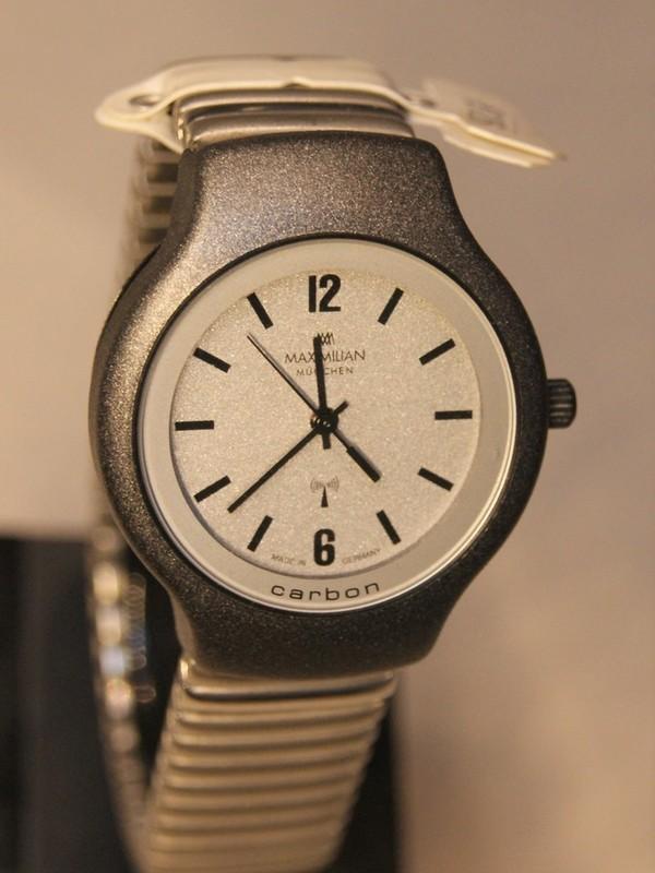 Maximilian München Quartz Radio Carbon Grijs Bracelet Grijs