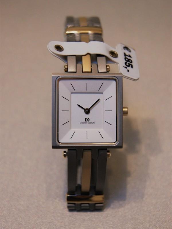 Danish Design Quartz Sapphire Titanium Bicolour Bracelet Wit IV65Q586