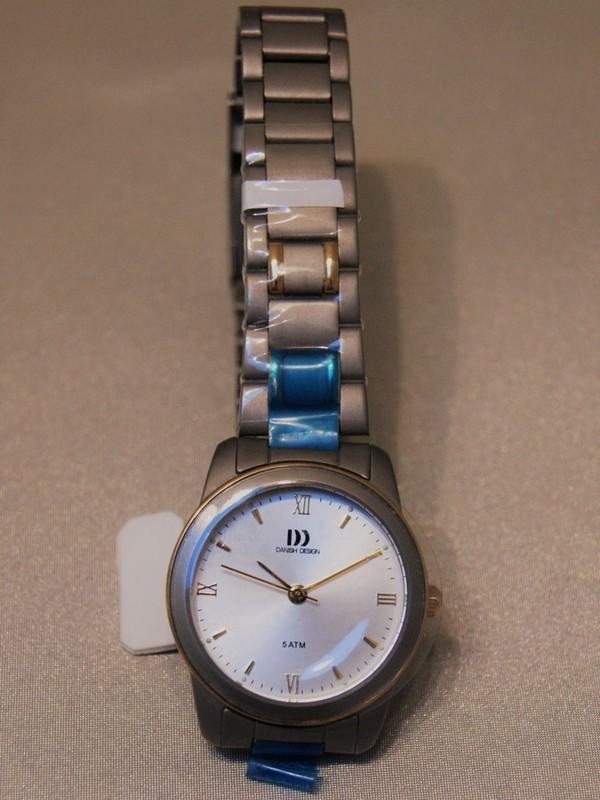 Danish Design Quartz Titanium Bicolour Bracelet Wit IV65Q659
