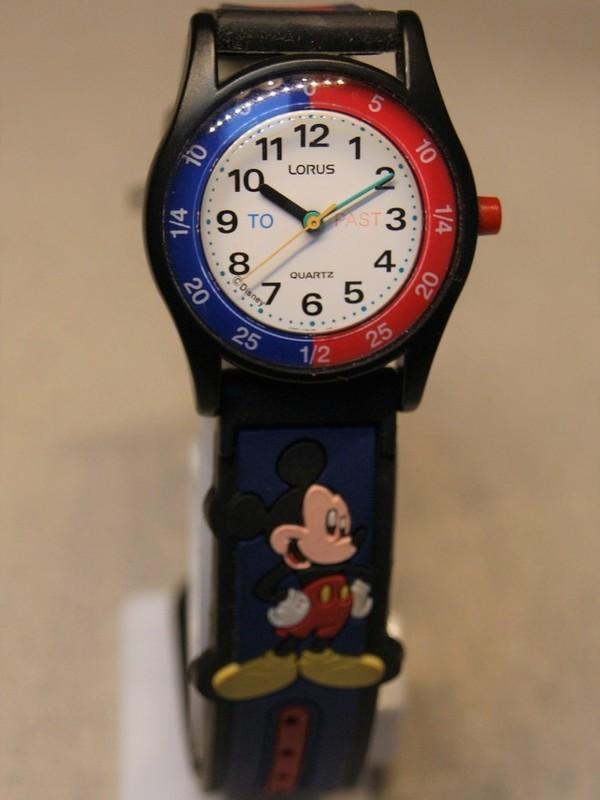 Lorus Disney Quartz Zwart Kunststof Blauw-rood Kunststof Wit RRS387-9