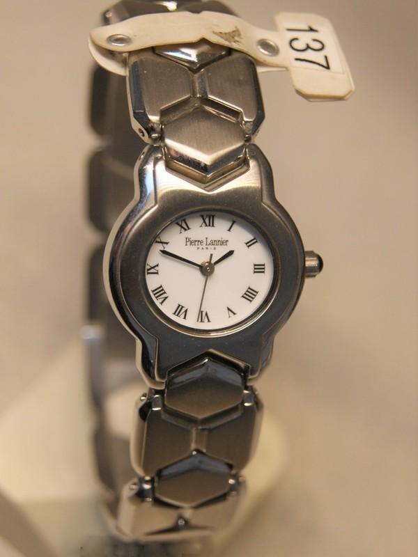 Pierre Lannier Quartz Staal SS Bracelet Wit 098B6