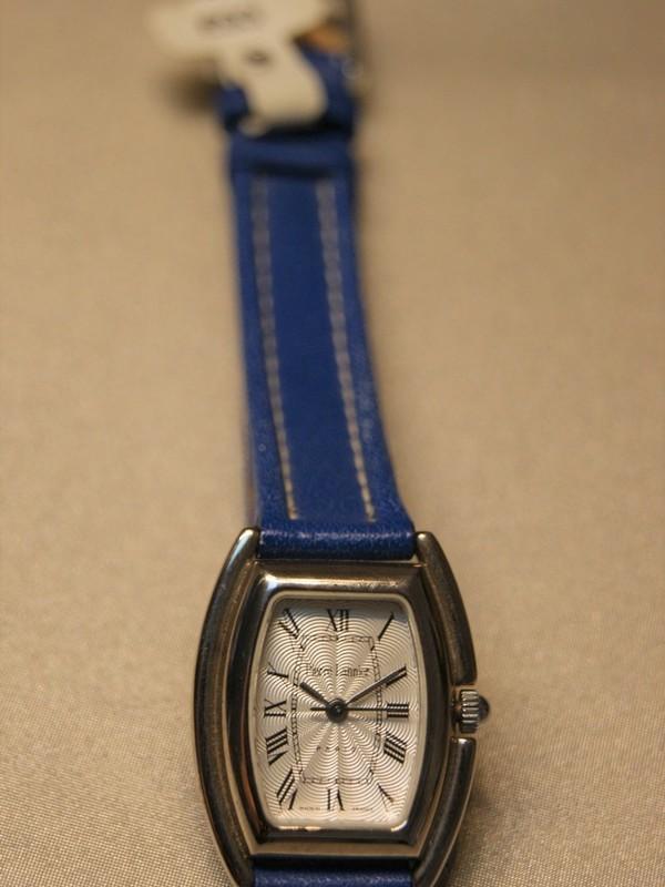 Pierre Lannier Quartz Staal Blauw Leder Zilver 070D6