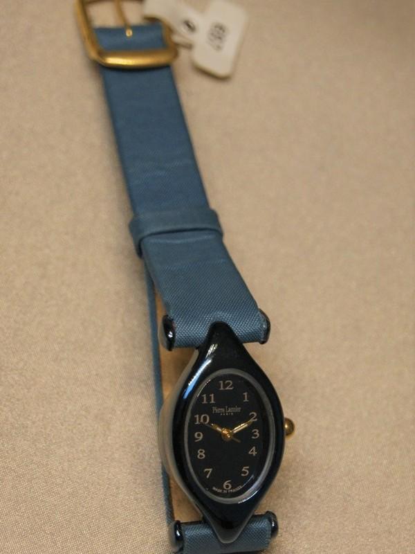 Pierre Lannier Quartz Staalblauw Blauw Leder Staalblauw 124B9