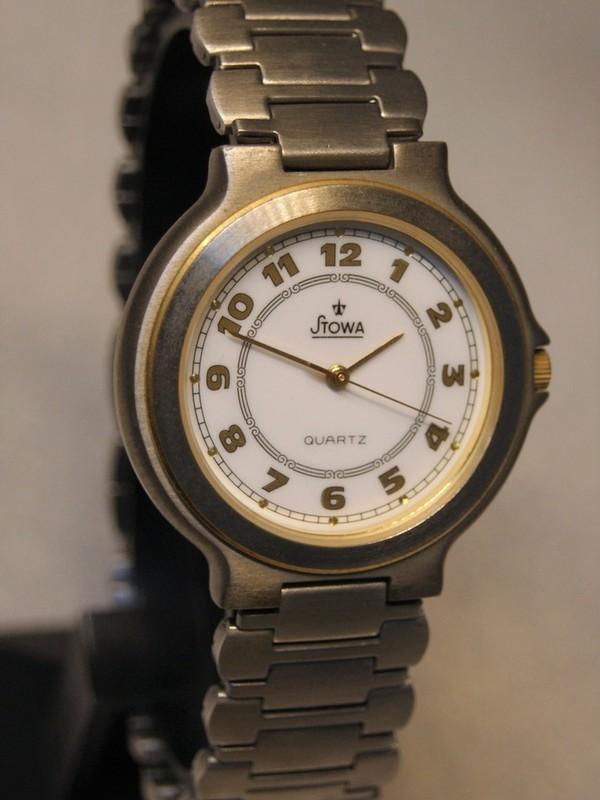 Stowa Quartz Bicolour Staal Bracelet Wit 860490