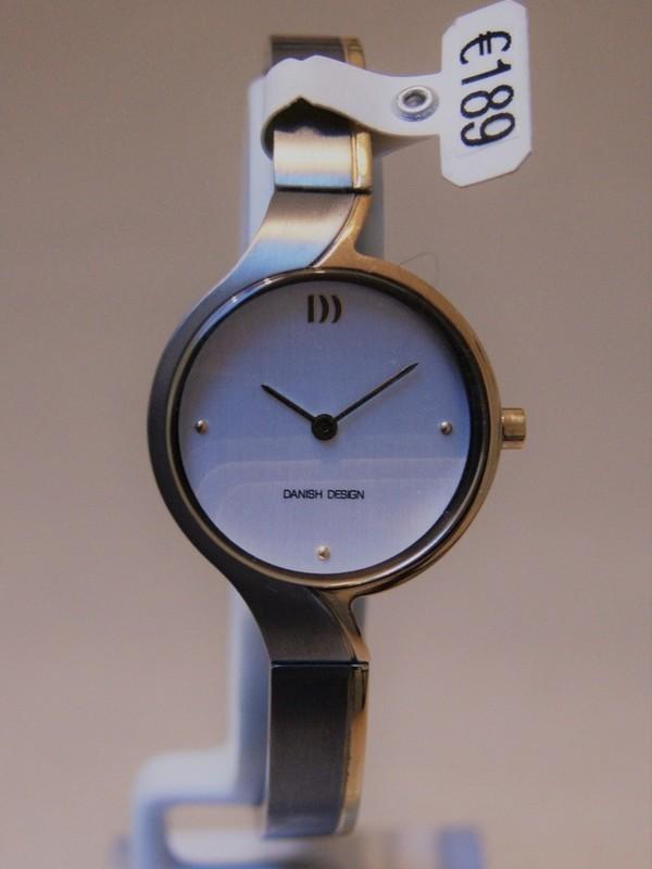 Danish Design Quartz Titanium Bicolour Bracelet Wit IV65Q1227