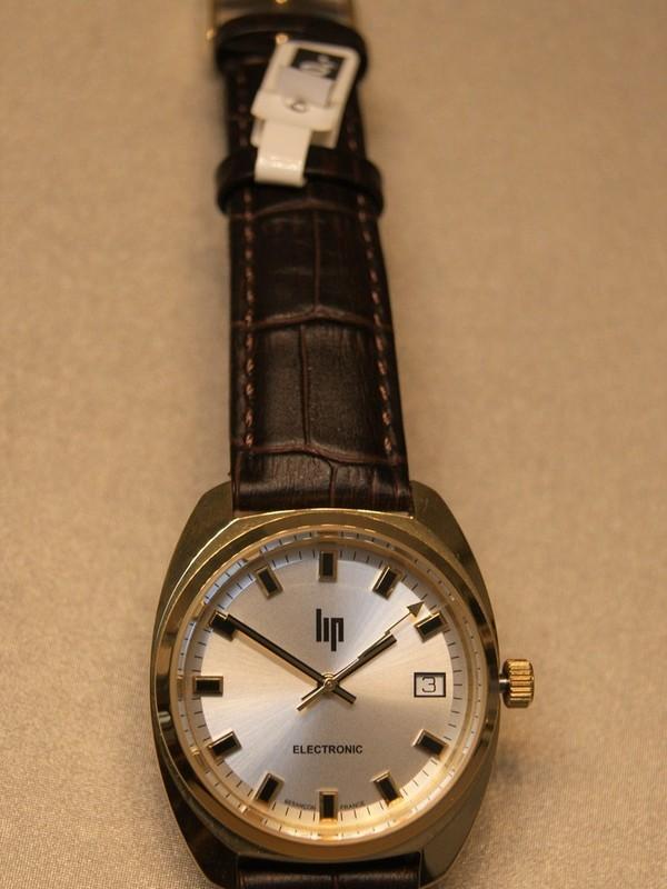 Lip General De Gaulle 1952 Quartz Electronic Plaqué Bruin Leder Zilver 671022