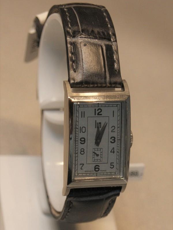 Lip Fred Lip 1935 Quartz Staal Zwart Leder Zilver 671000