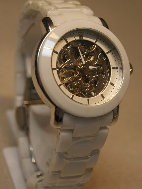 Kenneth Cole Automaat Ceramic Staal SS Wit Bracelet Transparant KC4726