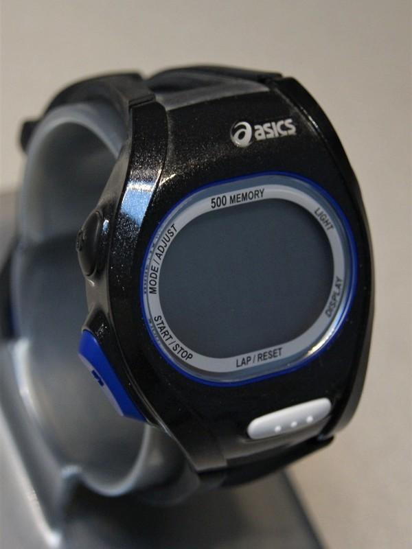 Asics Quartz Zwart-blauw Zwart Kunststof Zilver-display WJ10-4000
