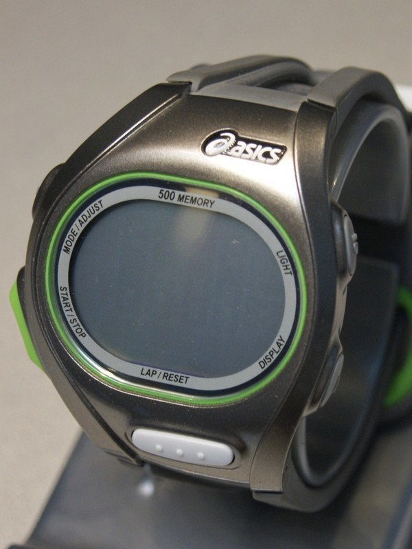 Asics Quartz Grijs-groen Grijs Kunststof Zilver-Display WJ11-4000