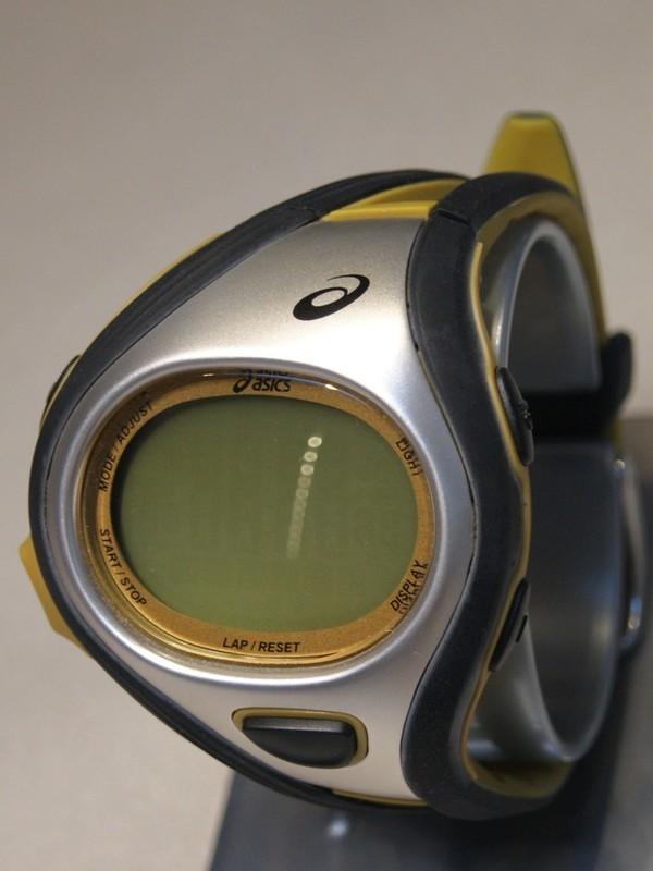 Asics Quartz Grijs Zwart-oker Kunststof Goud-display WJ13-4000