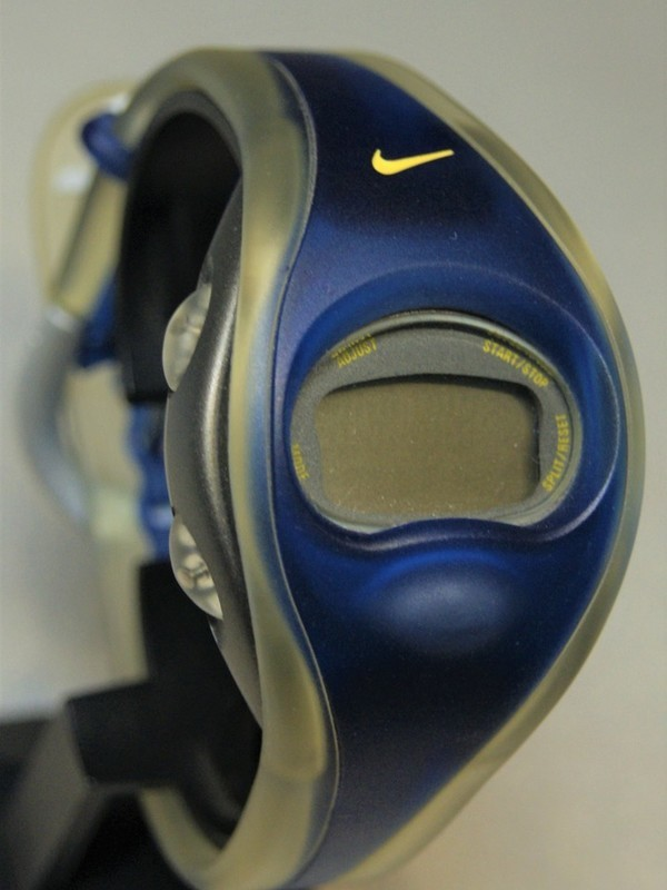 Nike Quartz Staal SS Blauw-transparant Kunststof Display WG51-4010