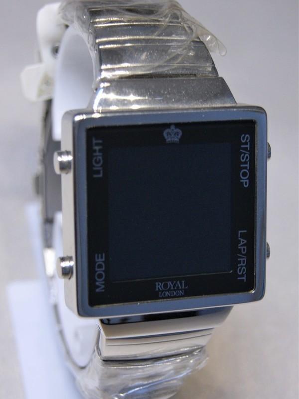 Royal London Quartz Staal SS Bracelet Zwart-display 4709-D3A
