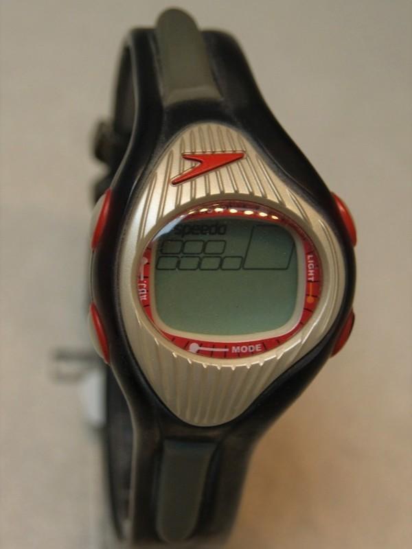 Speedo Splasher Quartz Grijs-rood Zwart-grijs Kunststof Display AJM01