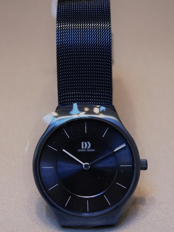 Danish Design Quartz Staal SS Mesh Bracelet Blauw IV69Q1259