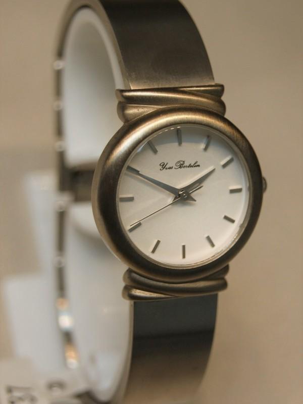 Yves Bertelin Quartz Staal Bracelet Wit