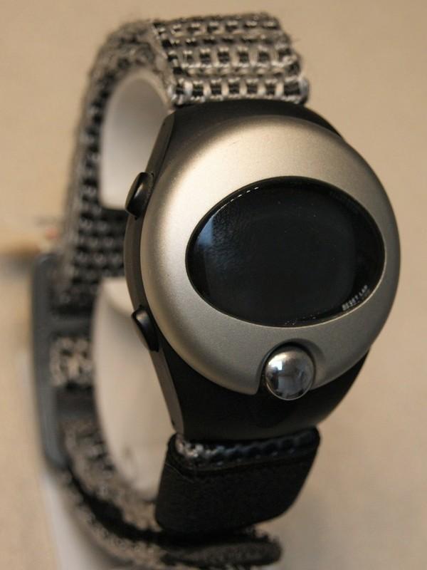 Pulsar Spoon Quartz Zwart-zilver Zwart-grijs Velcroband Zwart-display PZX023P9