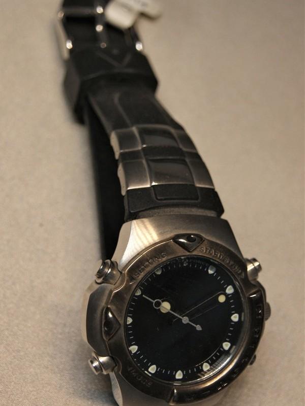 Time Force Quartz Chronograph Staal SS Zwart Kunststof Zwart-display 9319