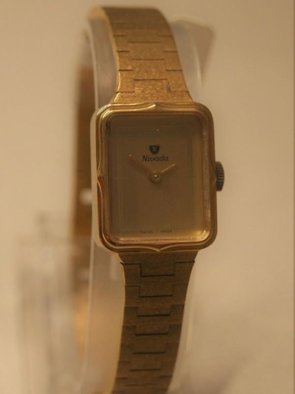 Nivada Quartz Plaqué Bracelet Goud 18578