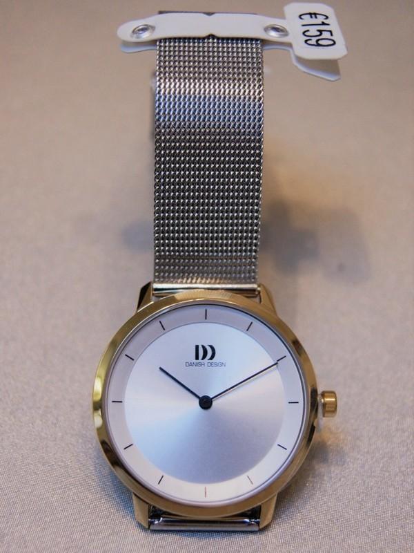 Danish Design Quartz Doublé SS Mesh Bracelet Zilver IV65Q1258