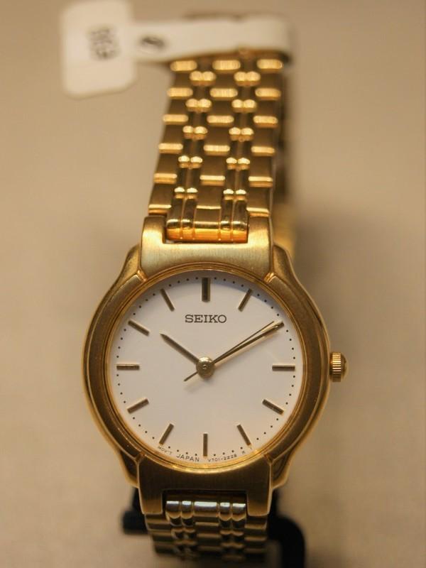 Seiko Quartz Plaqué Bracelet Wit SFW844P1