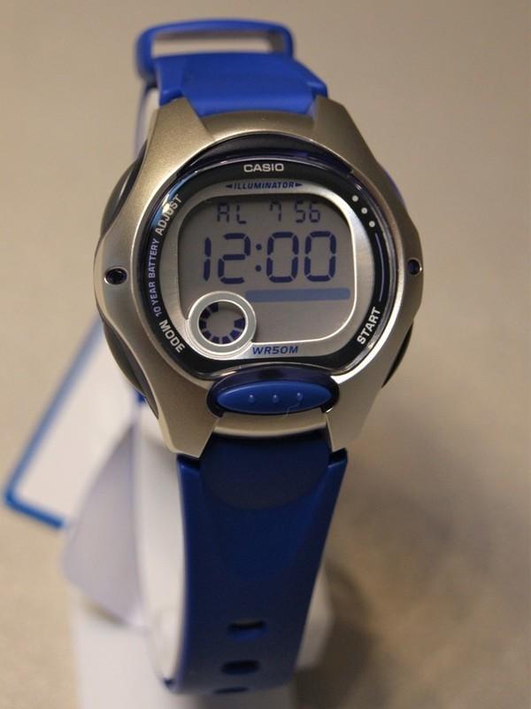 Casio Quartz Grijs Blauw Kunststof Zilver-display LW-200-2AVEF