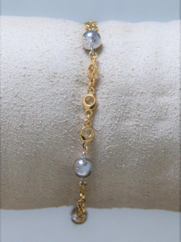 Bicolour gouden armband