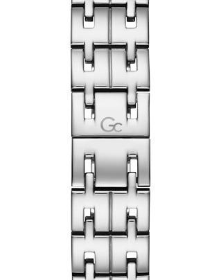 Gc Primechic Quartz Zilver SS Bracelet Zwart-rosé Y46001L5MF