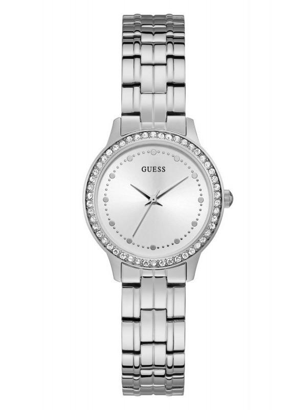 Guess Chelsea Quartz Zilver SS Bracelet Wit W1209L1