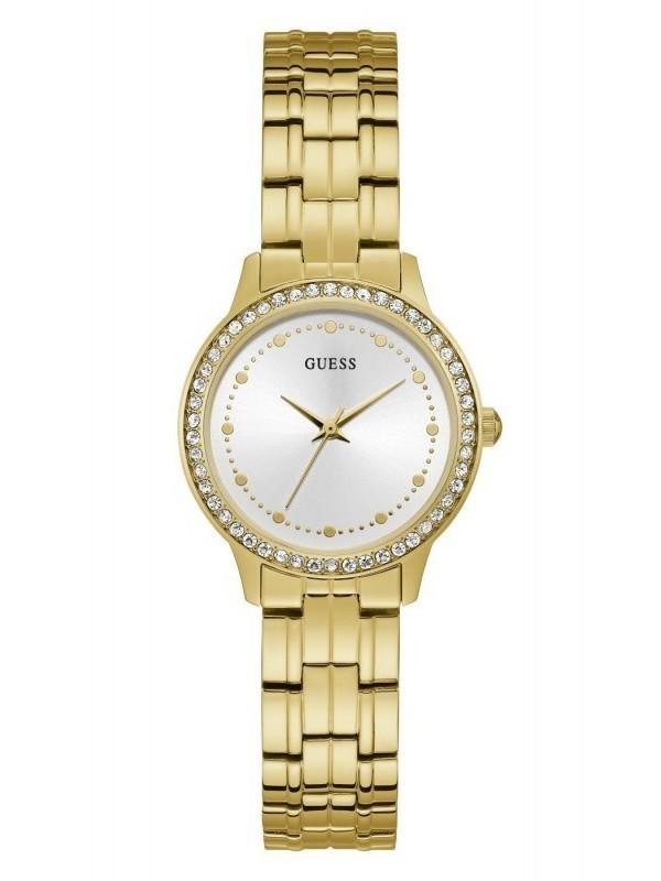 Guess Chelsea Quartz Goud SS Bracelet Wit W1209L2
