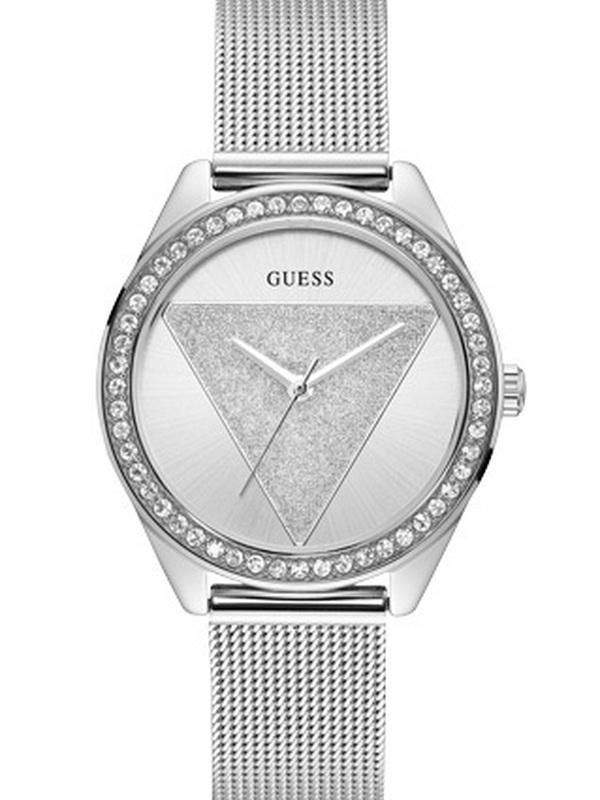 Guess Tri Glitz Quartz Zilver SS (Mesh) Bracelet Zilver W1142L1