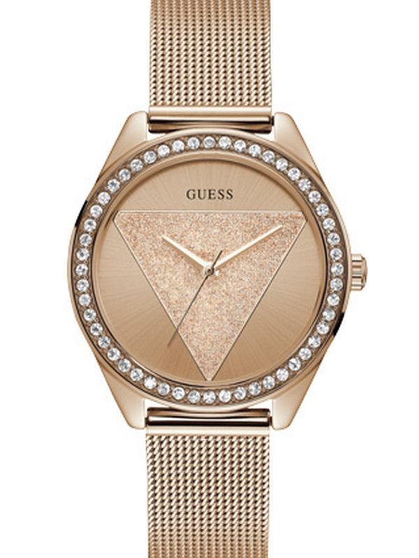 Guess Tri Glitz Quartz Rosé SS (Mesh) Bracelet Rosé W1142L4