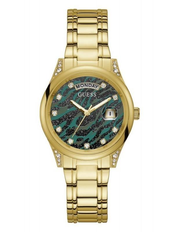 Guess Aura Quartz SS Bracelet Donkergroen GW0047