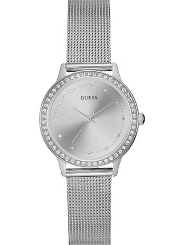 Guess Chelsea Quartz Zilver SS (Mesh) Bracelet Zilver W0647L6